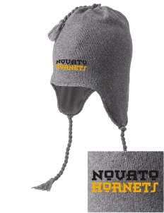 Novato High School Hornets Embroidered Knit Hat with Earflaps