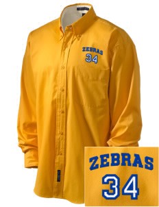 Lincoln High School Zebras Embroidered Men's Easy-Care Shirt