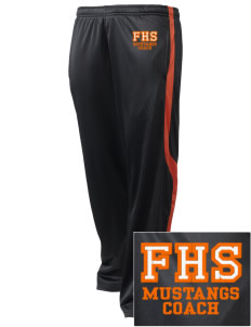 Foothill High School Mustangs Embroidered Holloway Men's Tricotex Warm Up Pants