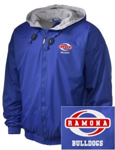 Ramona High School Bulldogs Embroidered Holloway Men's Hooded Jacket