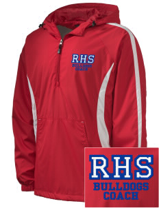 Ramona High School Bulldogs Embroidered Men's Colorblock Raglan Anorak
