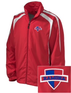 Ramona High School Bulldogs Embroidered Men's Colorblock Raglan Jacket