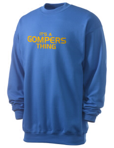Gompers Secondary School Wildcats Men's 7.8 oz Lightweight Crewneck Sweatshirt