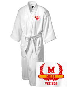 Mills High School Vikings Embroidered Terry Velour Robe