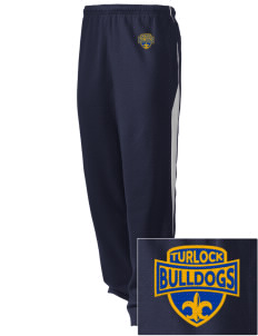 Turlock High School Bulldogs Embroidered Holloway Men's Pivot Warm Up Pants