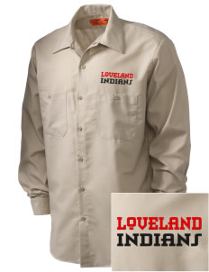 Loveland High School Indians Embroidered Men's Industrial Work Shirt - Regular