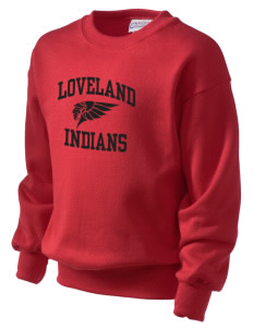 Loveland High School Indians Kid's Crewneck Sweatshirt