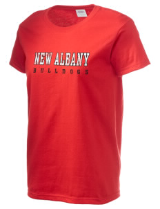New Albany High School Bulldogs Women's 6.1 oz Ultra Cotton T-Shirt