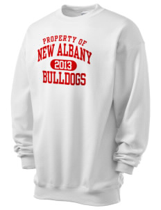 New Albany High School Bulldogs Men's 7.8 oz Lightweight Crewneck Sweatshirt