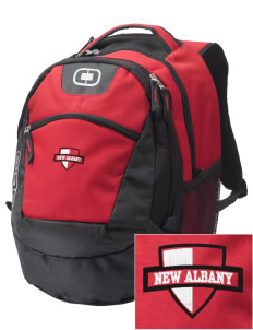 New Albany High School Bulldogs Embroidered OGIO Rogue Backpack