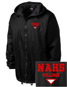 New Albany High School Bulldogs Embroidered Dickies Men's Fleece-Lined Hooded Jacket