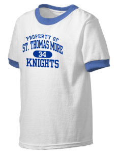 Saint Thomas More School Knights Kid's Ringer T-Shirt