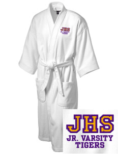 Jeanerette High School Tigers Embroidered Terry Velour Robe