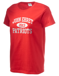 John Ehret High School Patriots Women's 6.1 oz Ultra Cotton T-Shirt