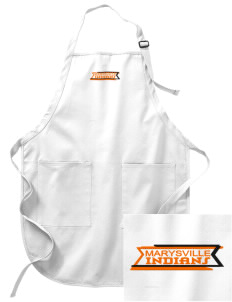 Marysville High School Indians Embroidered Full-Length Apron with Pockets
