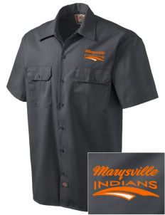 Marysville High School Indians Embroidered Dickies Men's Short-Sleeve Workshirt