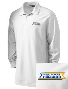 Pelham Pelicans Embroidered Men's Pima Pique Long-Sleeve Polo