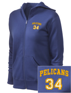 Pelham Pelicans Women's Full Zip Hooded Jacket