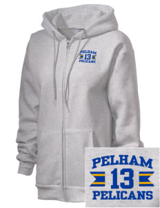 Pelham Pelicans Embroidered Unisex Full Zip Hooded Sweatshirt