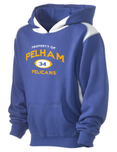 Pelham Pelicans Kid's Pullover Hooded Sweatshirt with Contrast Color