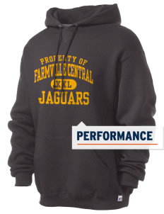 Farmville Central High School Jaguars Russell Men's Dri-Power Hooded Sweatshirt