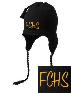 Farmville Central High School Jaguars Embroidered Knit Hat with Earflaps