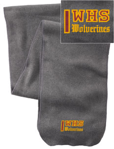 Willamette High School Wolverines  Embroidered Extra Long Fleece Scarf