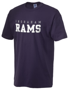 Ingraham High School Rams  Russell Men's NuBlend T-Shirt