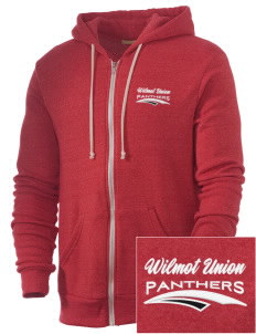 Wilmot Union High School Panthers Embroidered Alternative Men's Rocky Zip Hooded Sweatshirt