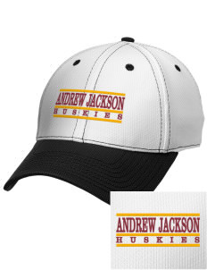 Andrew Jackson Elementary School Huskies Embroidered New Era Snapback Performance Mesh Contrast Bill Cap