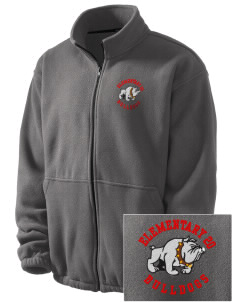 Elementary School 20 Bulldogs Embroidered Men's Fleece Jacket