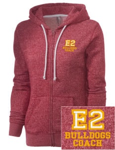 Elementary School 20 Bulldogs Embroidered Women's Marled Full-Zip Hooded Sweatshirt