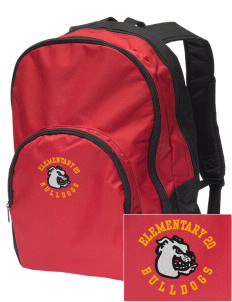 Elementary School 20 Bulldogs Embroidered Value Backpack