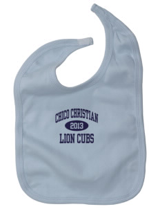 Chico Christian School Lion Cubs Baby Interlock Bib