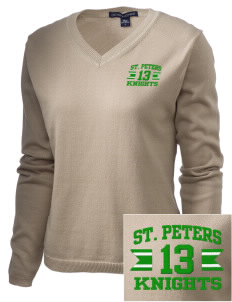 Saint Peters School Knights Embroidered Women's V-Neck Sweater