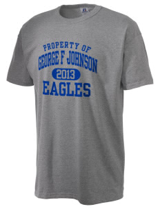 George F Johnson Elementary School Eagles  Russell Men's NuBlend T-Shirt