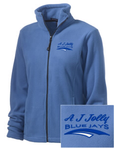 A J Jolly Elementary School Blue Jays Embroidered Women's Wintercept Fleece Full-Zip Jacket
