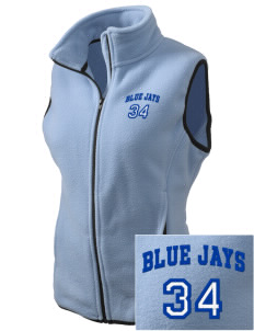 A J Jolly Elementary School Blue Jays Embroidered Women's Fleece Vest