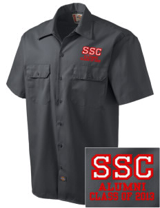 Saint Stanislaus College Preparatory Rock-A-Chaws Embroidered Dickies Men's Short-Sleeve Workshirt