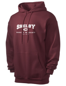 Shelby Elementary School Wildcats Men's 7.8 oz Lightweight Hooded Sweatshirt
