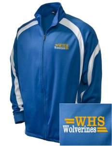 Whitmire High School Wolverines Embroidered Holloway Men's Tricotex Warm Up Jacket