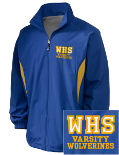 Whitmire High School Wolverines Embroidered Holloway Men's Full-Zip Jacket