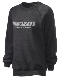 Vancleave High School Bulldogs Unisex Alternative Eco-Fleece Raglan Sweatshirt with Distressed Applique