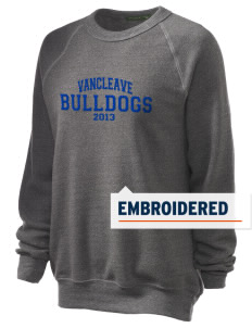 Vancleave High School Bulldogs Embroidered Unisex Alternative Eco-Fleece Raglan Sweatshirt