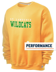 Saint Lawrence School Wildcats  Russell Men's Dri-Power Crewneck Sweatshirt