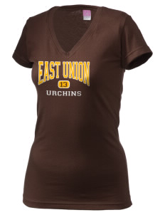 East Union Attendance Center Urchins Juniors' Fine Jersey V-Neck Longer Length T-shirt