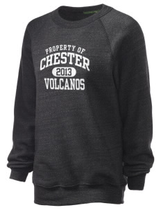 Chester Elementary School Volcanos Unisex Alternative Eco-Fleece Raglan Sweatshirt
