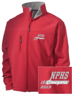 North Panola High School Cougars Embroidered Men's Soft Shell Jacket