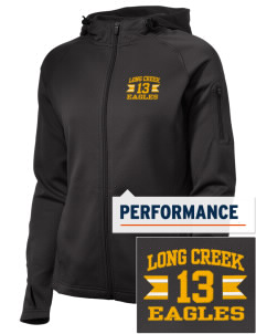 Long Creek Elementary School Eagles Embroidered Women's Tech Fleece Full-Zip Hooded Jacket