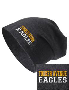 Tooker Avenue Elementary School Eagles Embroidered Slouch Beanie